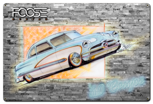 Foose 50 Ford Coupe Blue and White