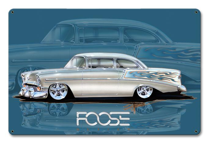 Foose 56 BelAir Silver Satin