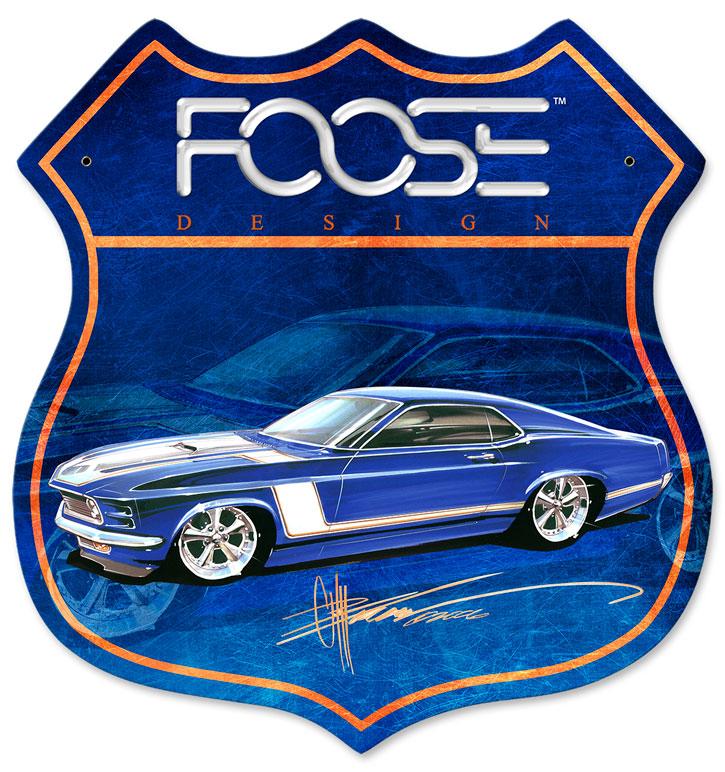70 Blue Race Car