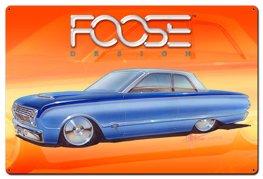 63 Two Tone Blue Car