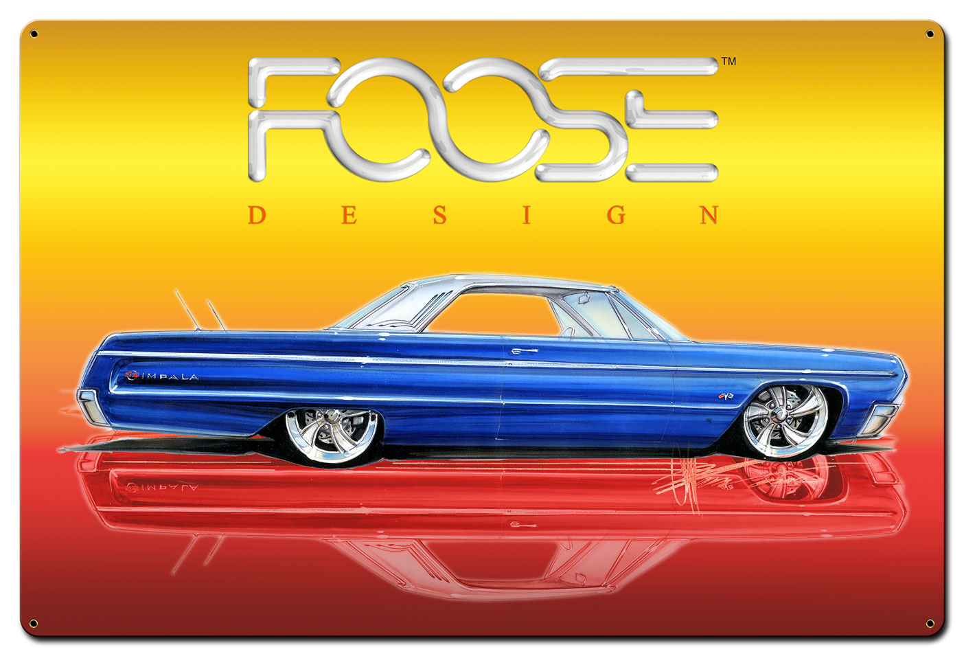 64 Blue Car White Top