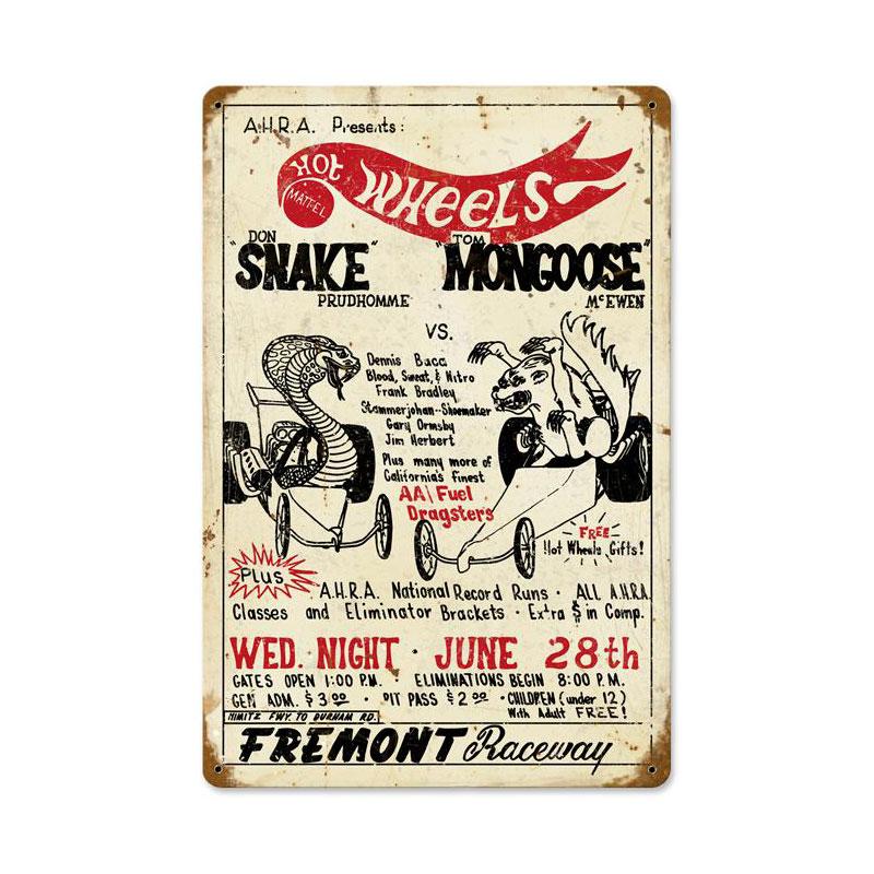 Snake Vs Mongoose Vintage Sign