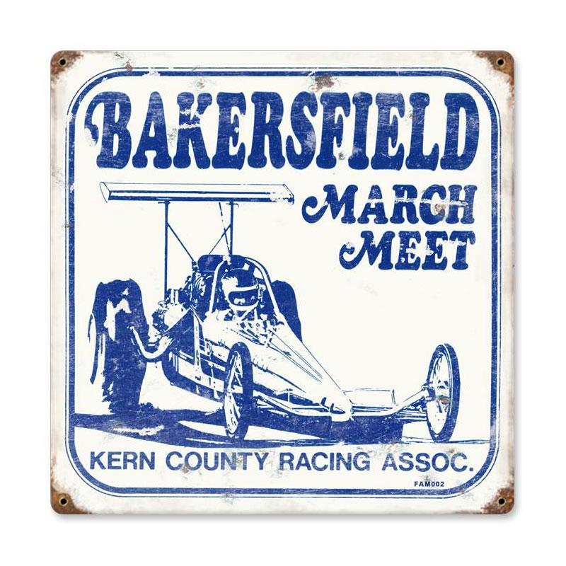 March Meet Vintage Sign