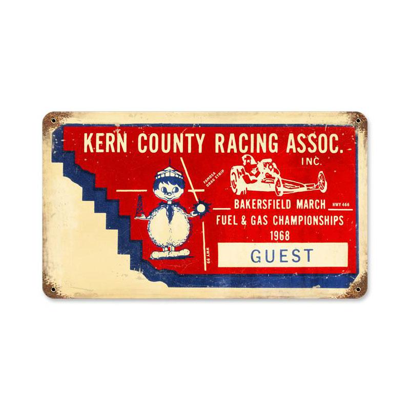 Kern County Ticket Vintage Sign