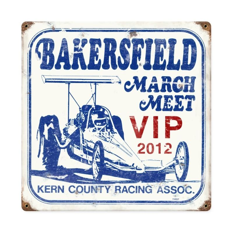 Famosa Vip Bakersfield March Meet Vintage Sign