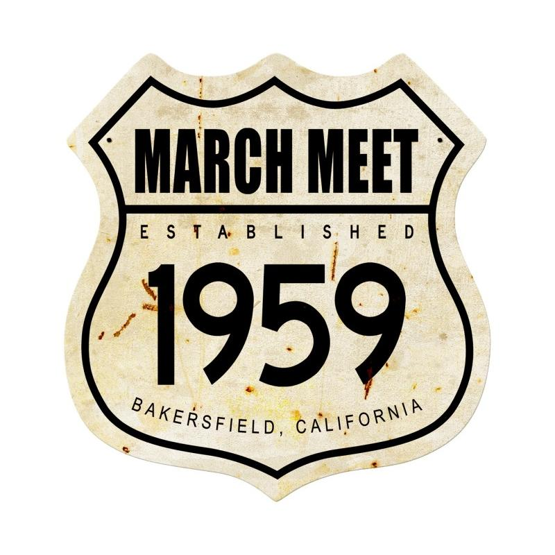 March Meet 1959 Vintage Sign