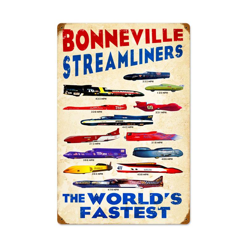 Worlds Fastest #2 Vintage Sign