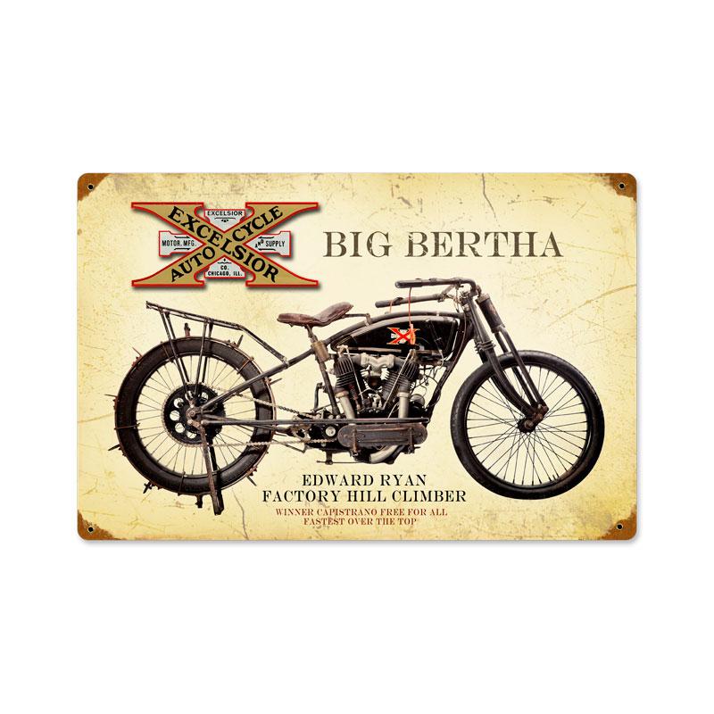 Excelsior Big Bertha Vintage Sign