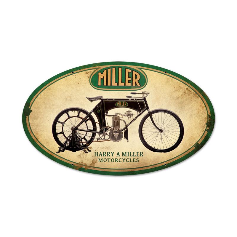 Miller Motorcycles Vintage Sign
