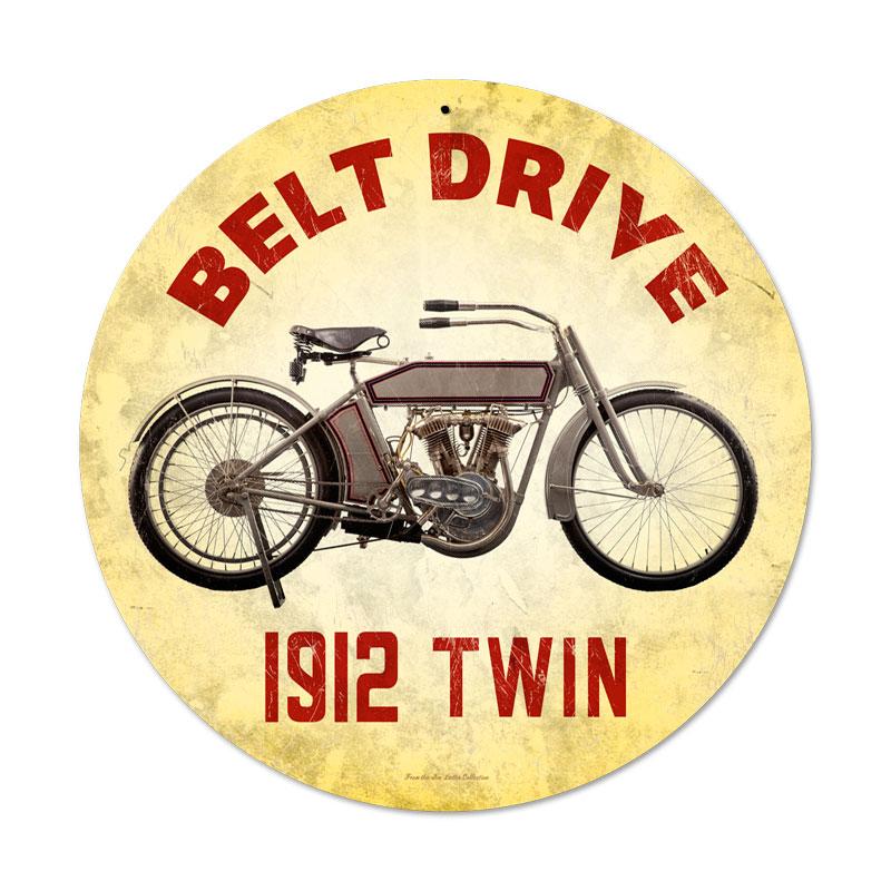 Belt Drive 1912 Vintage Sign