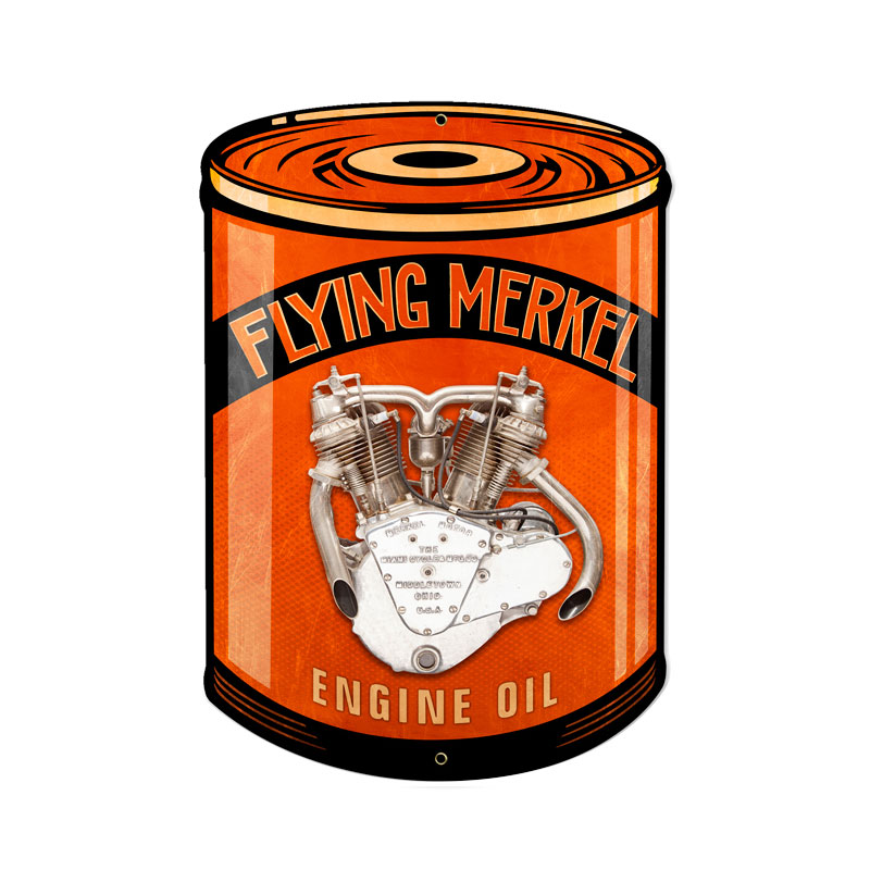 Flying Merkel Vintage Sign