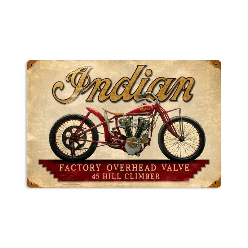Indian Hillclimber Vintage Sign