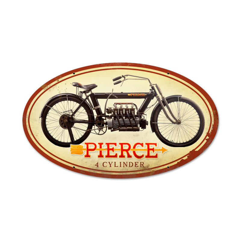 Pierce 4 Cylinder Vintage Sign