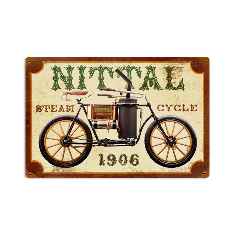 Nittal Steam Cycle Vintage Sign