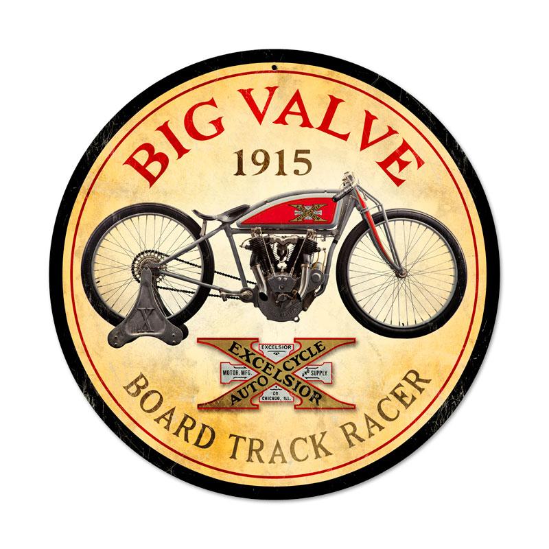 Excelsior Big Valve Vintage Sign