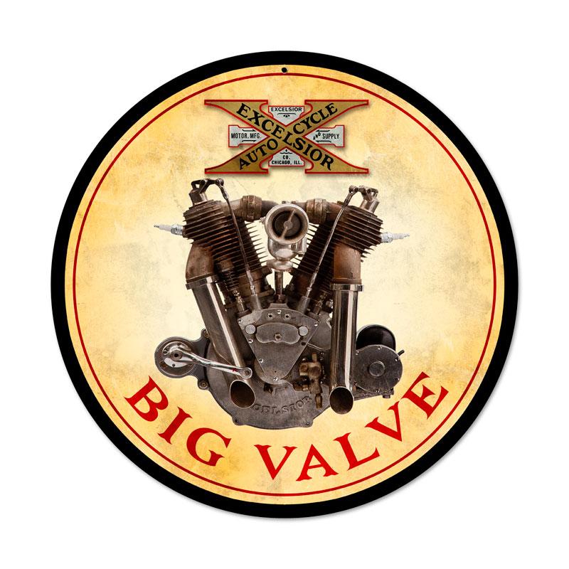 Big Valve Engine Vintage Sign
