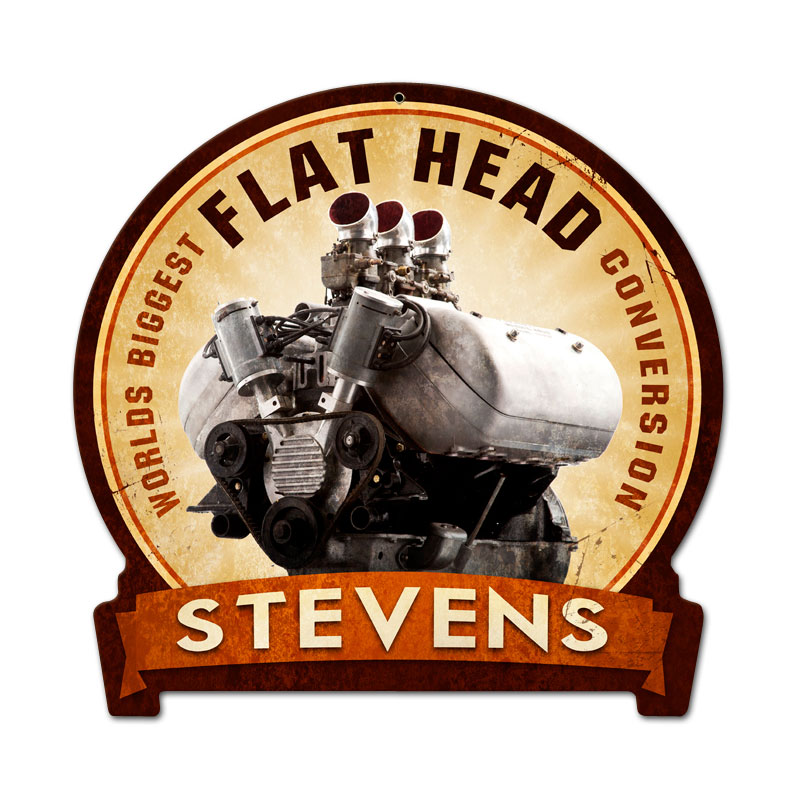 Flat Head Engine Vintage Sign