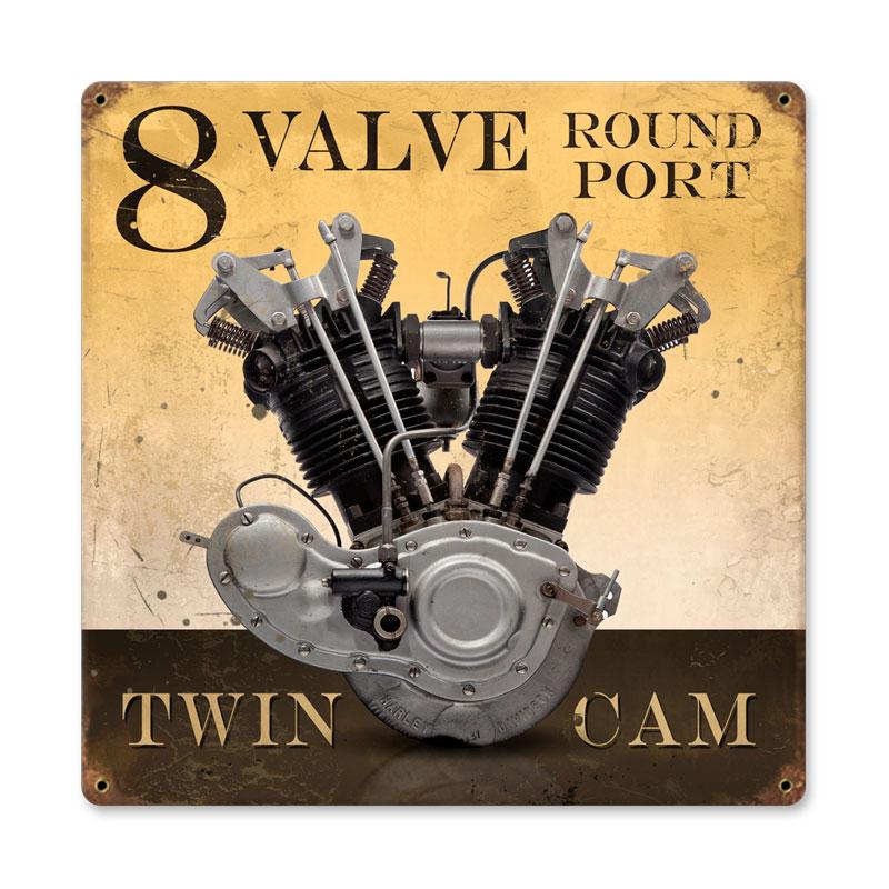 8 Valve  Port Vintage Sign