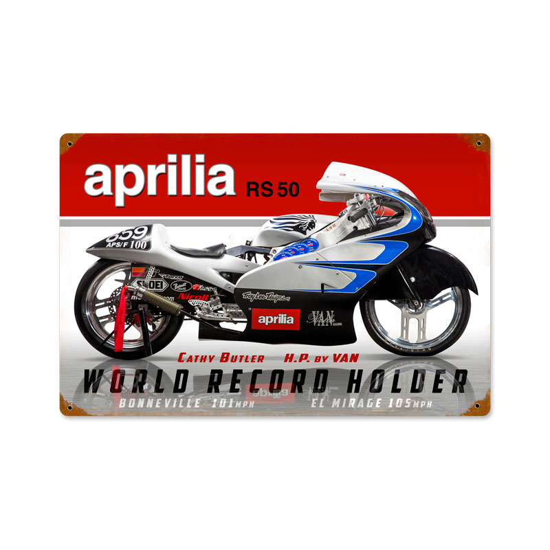 Aprilia World Record Vintage Sign