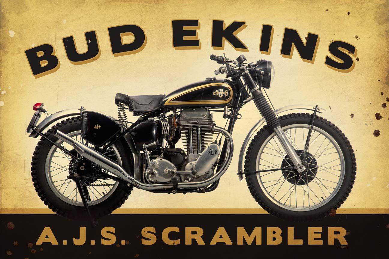 Bud Ekins Vintage Sign