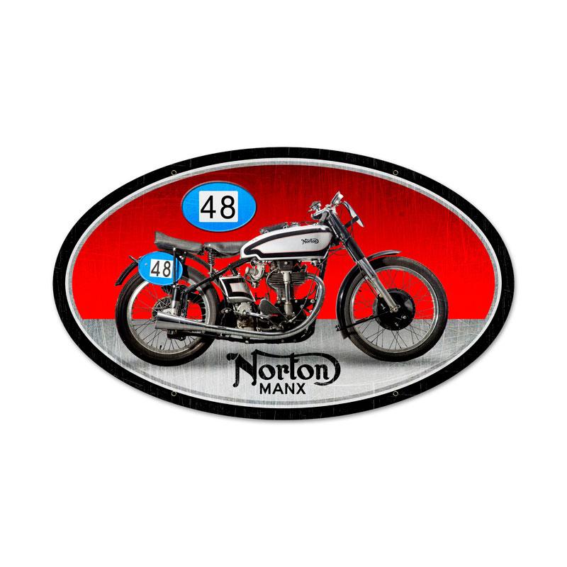 Norton Manx Vintage Sign