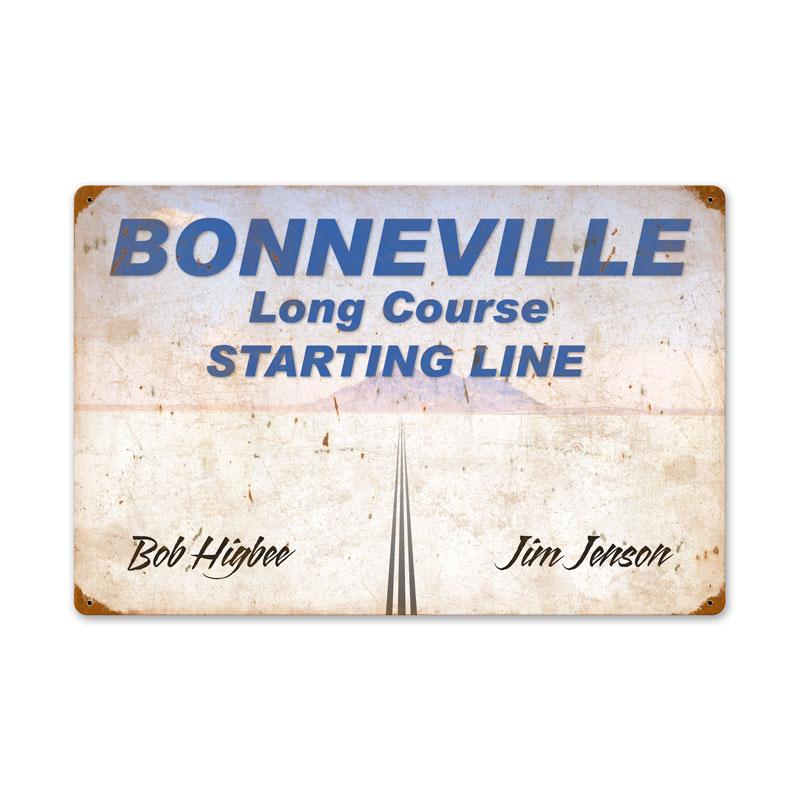 Bonneville Starting Line Vintage Sign
