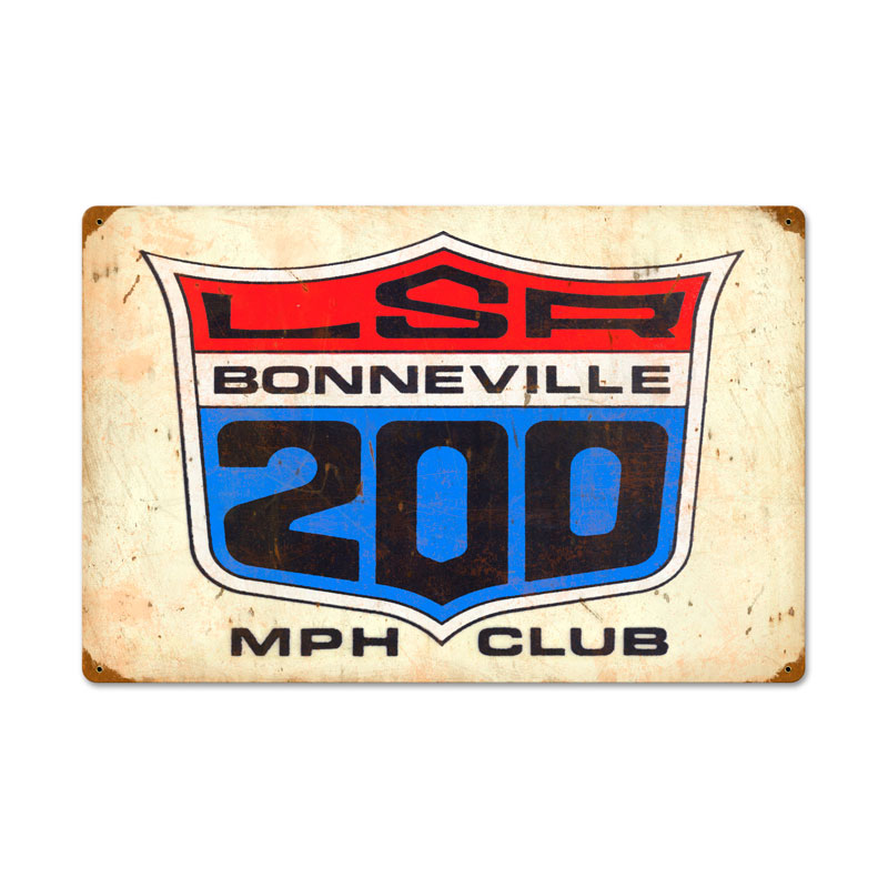 The 200 MPH Club Vintage Sign