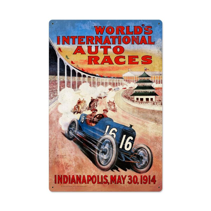 Worlds Race Vintage Sign