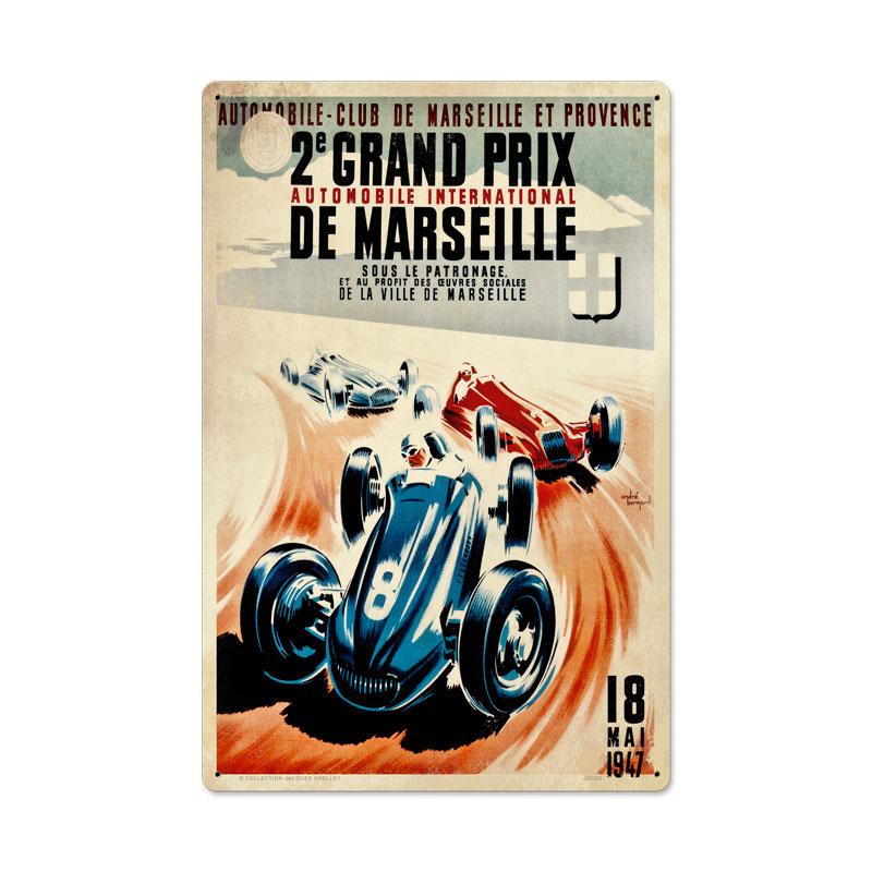 Marseille Grand Prix Vintage Sign