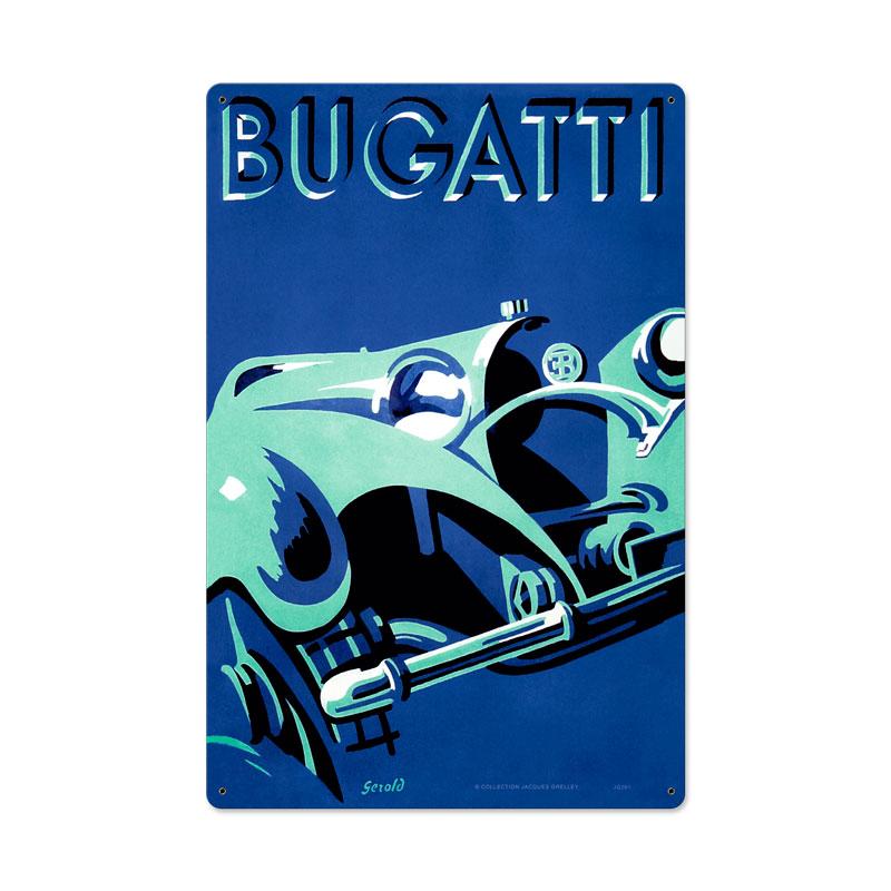 Bugatti Blue Vintage Sign
