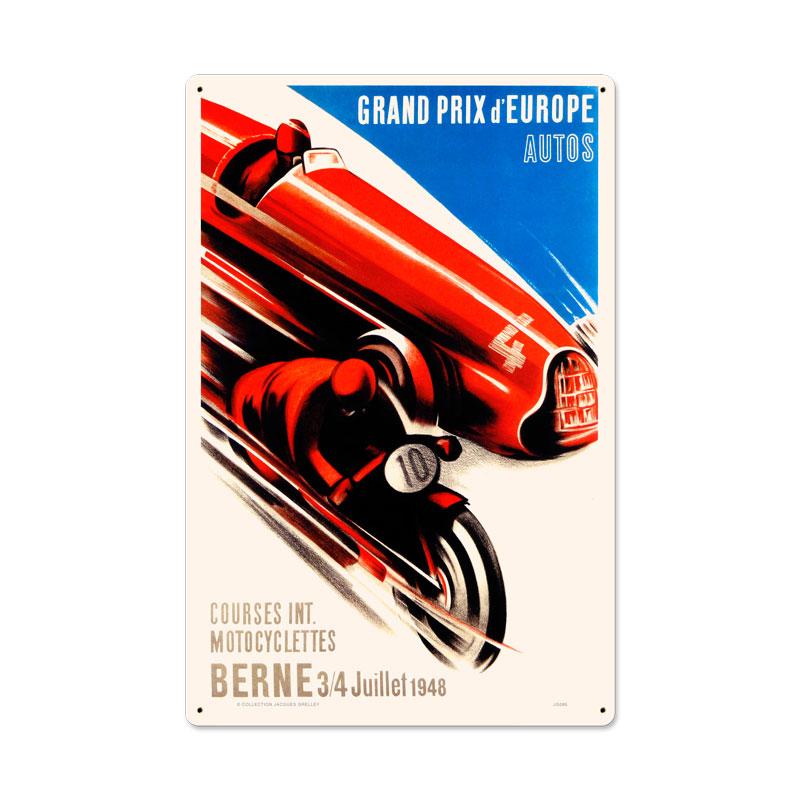 Europe Grand Prix Vintage Sign