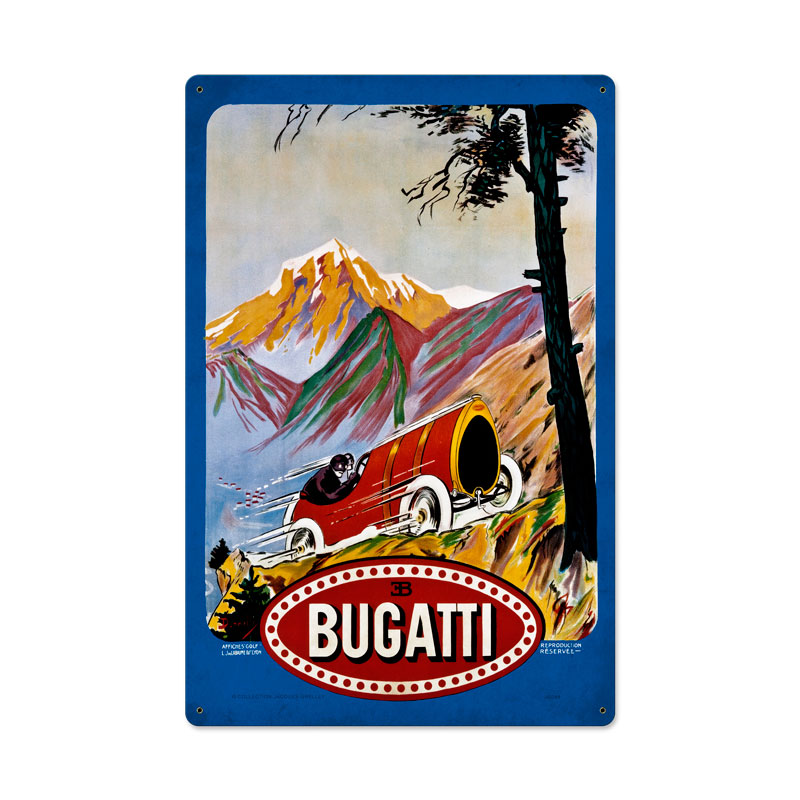 Bugatti Red Vintage Sign
