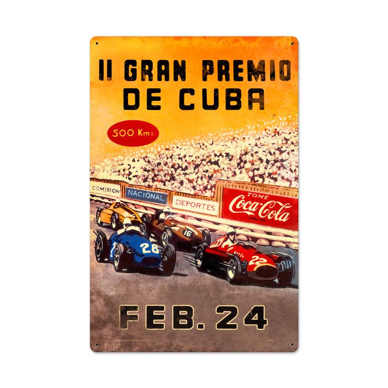 Gran Premio Cuba Vintage Sign