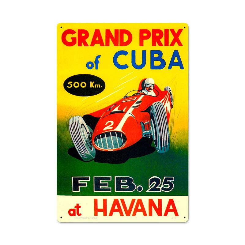Grand Prix Cuba Vintage Sign