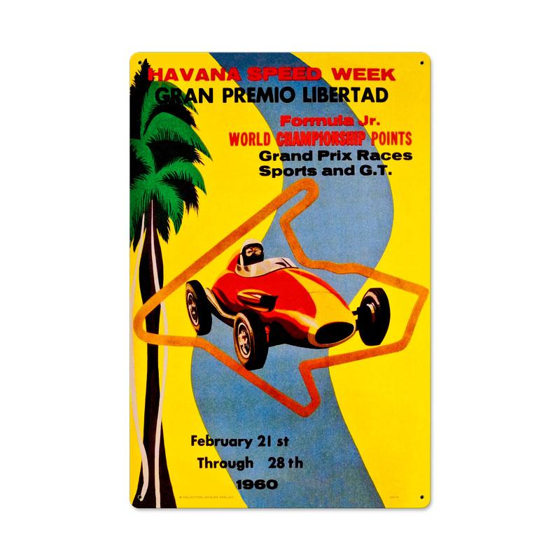 Havana Speed Week Vintage Sign