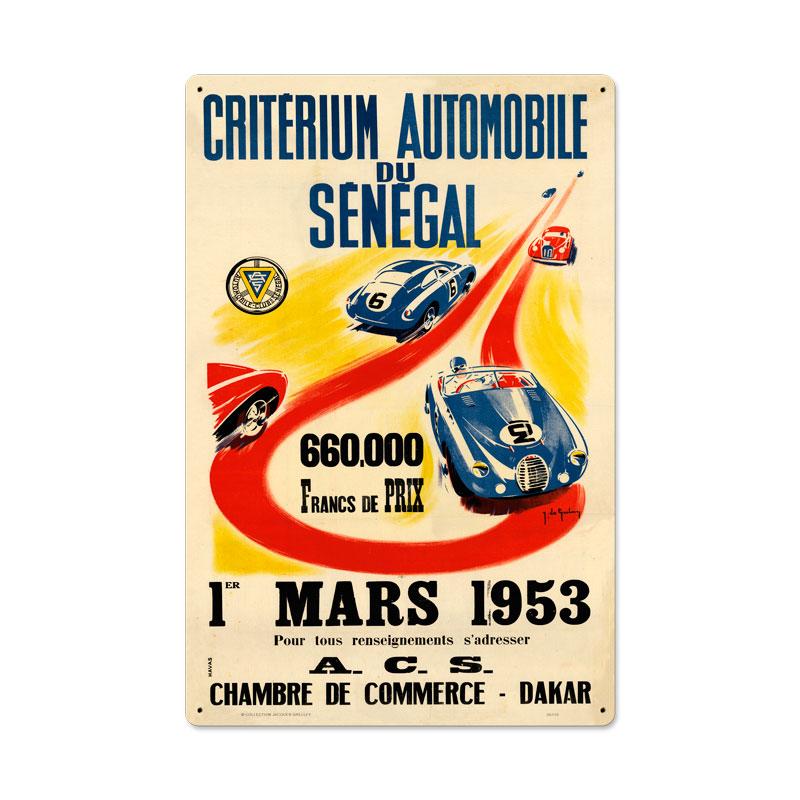 Senegal 1953 Vintage Sign
