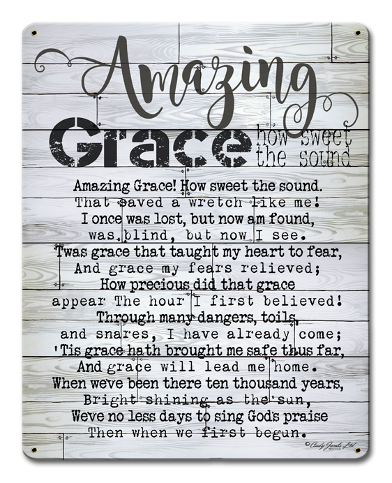 Amazing Grace Vintage Sign