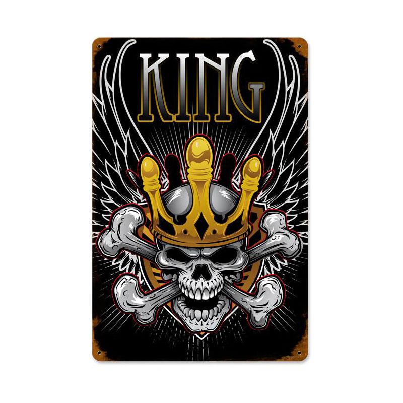 King Skull Vintage Sign
