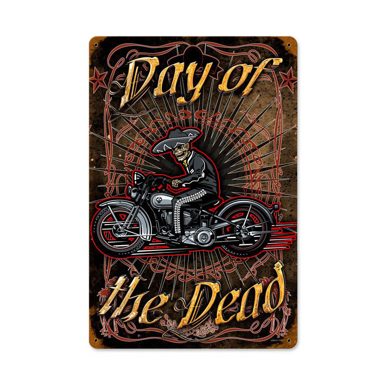 Day Of The Dead Vintage Sign