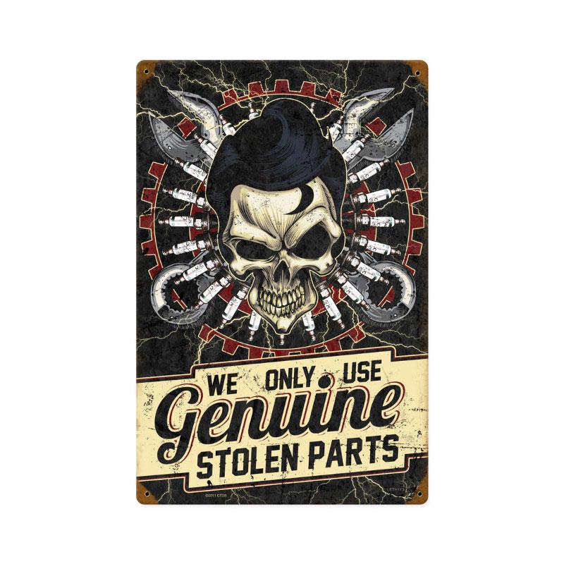 Stolen Parts Vintage Sign