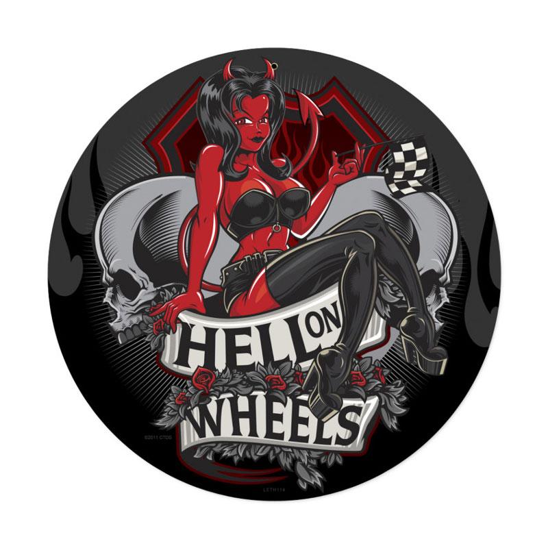 Hell On Wheels Vintage Sign