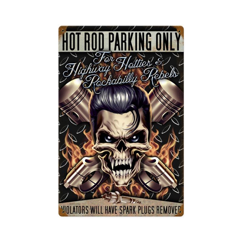 Hot Rod Parking Vintage Sign