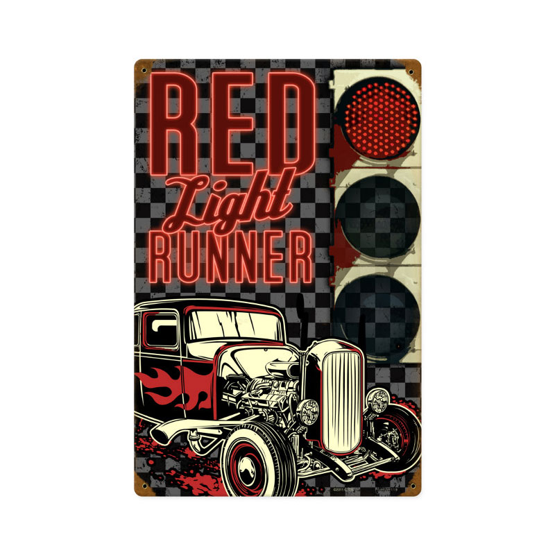 Red Light Runner Vintage Sign