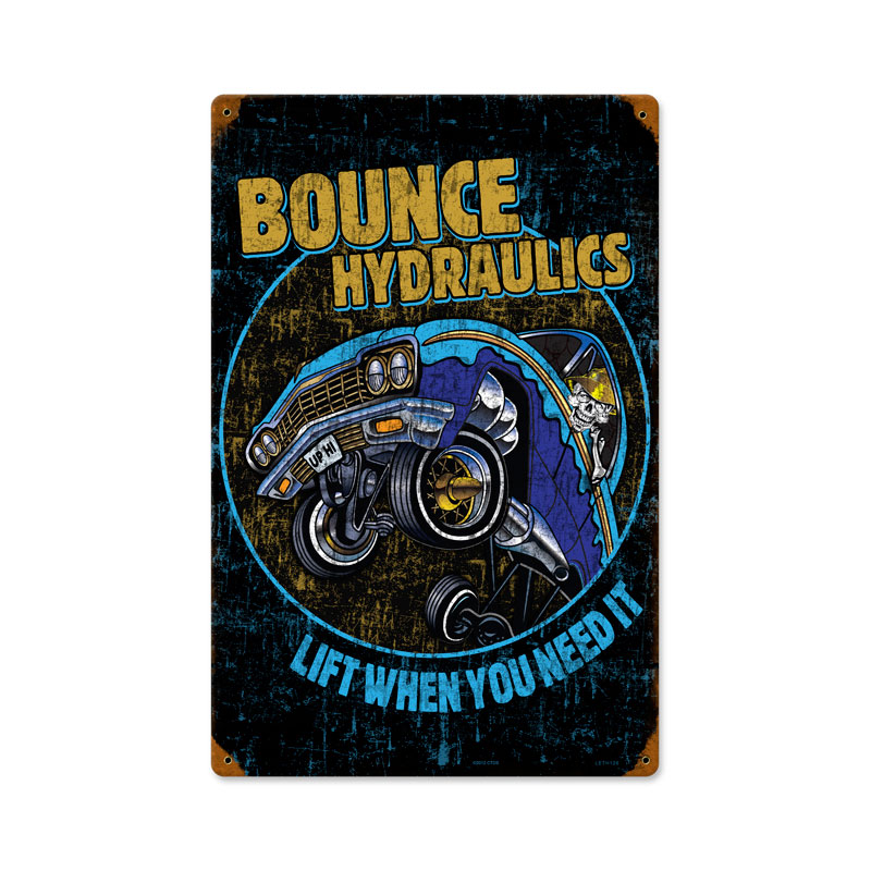 Bounce Hydraulics Vintage Sign