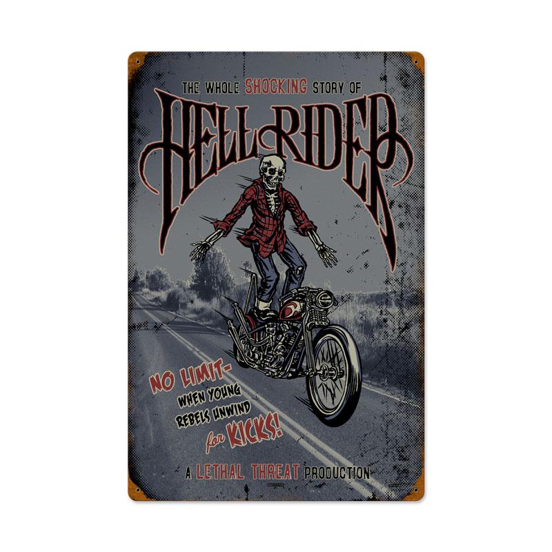 Hell Rider Vintage Sign