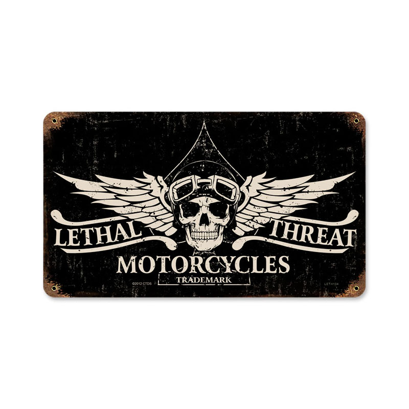 Lethal Motorcycles Vintage Sign