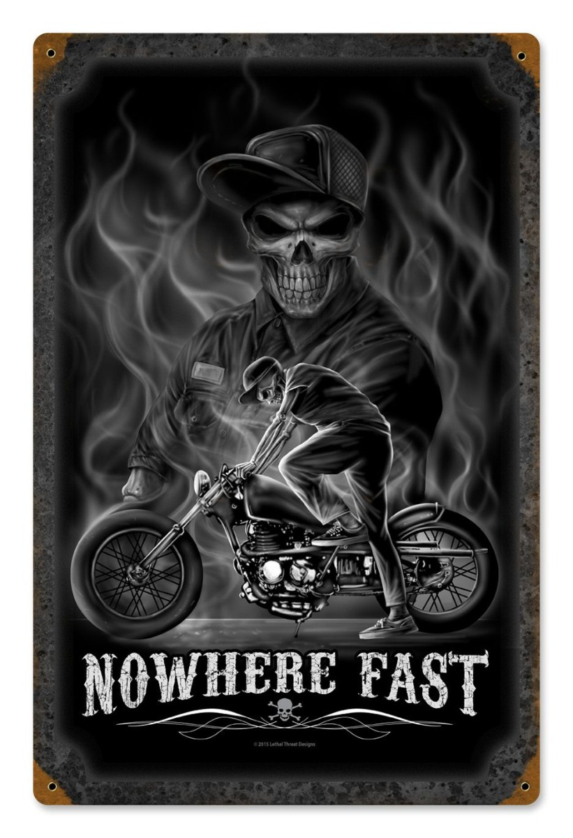 Nowhere Fast Vintage Sign