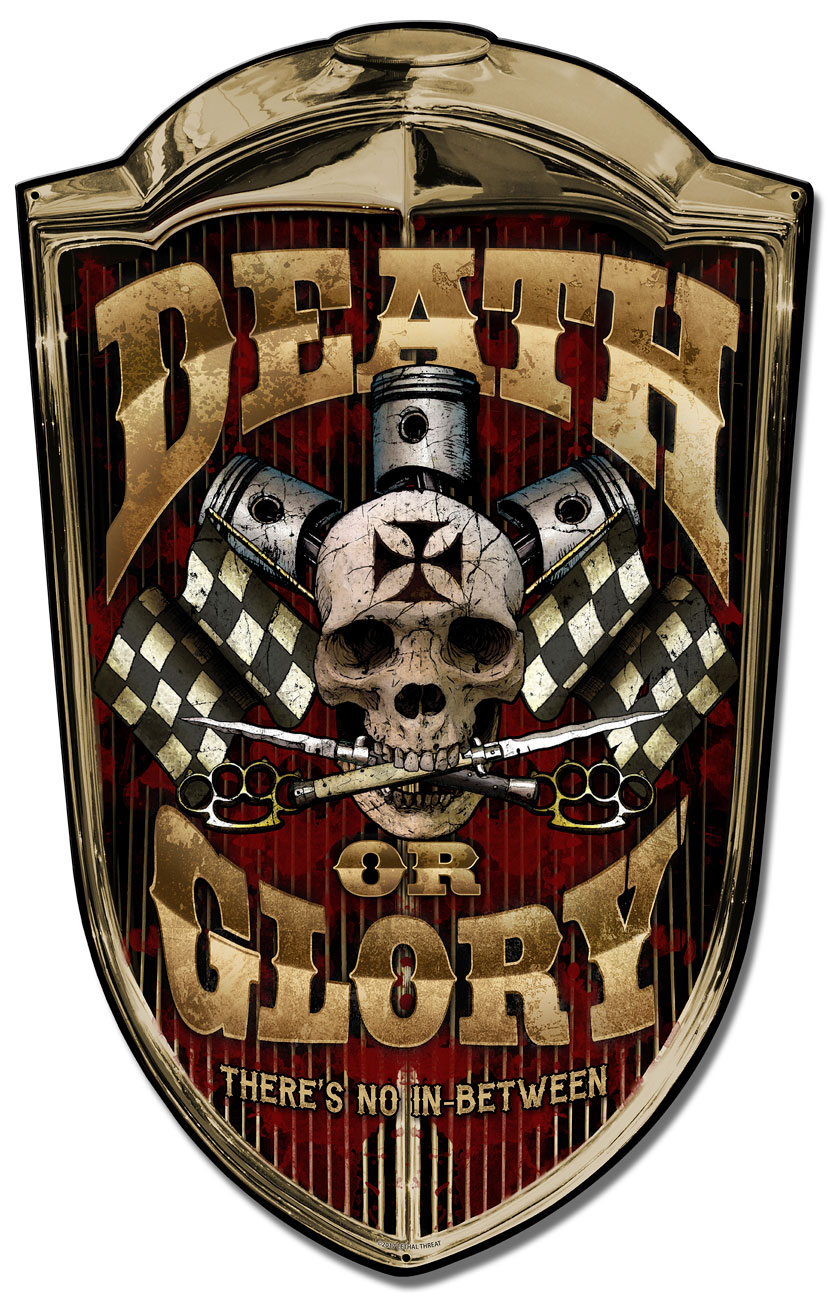 Grill Sign Death or Glory Vintage Sign