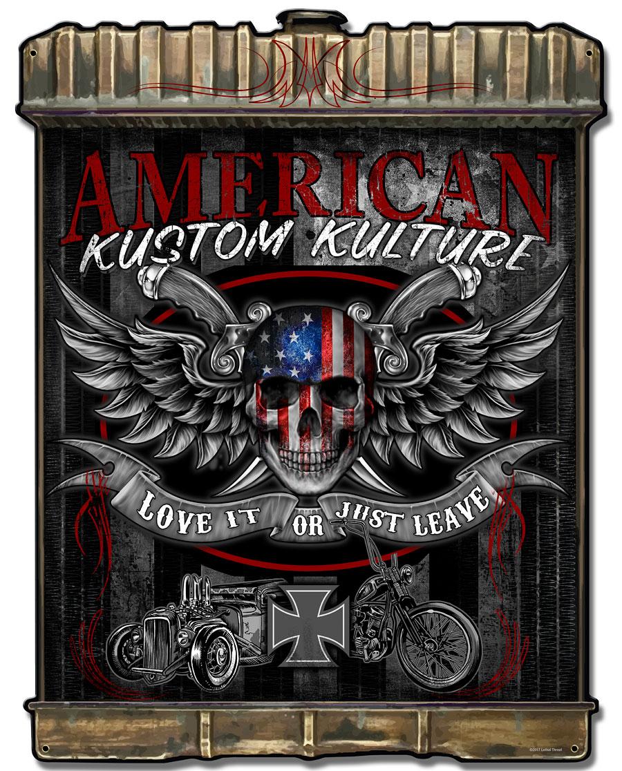 Radiator American Kustom Vintage Sign