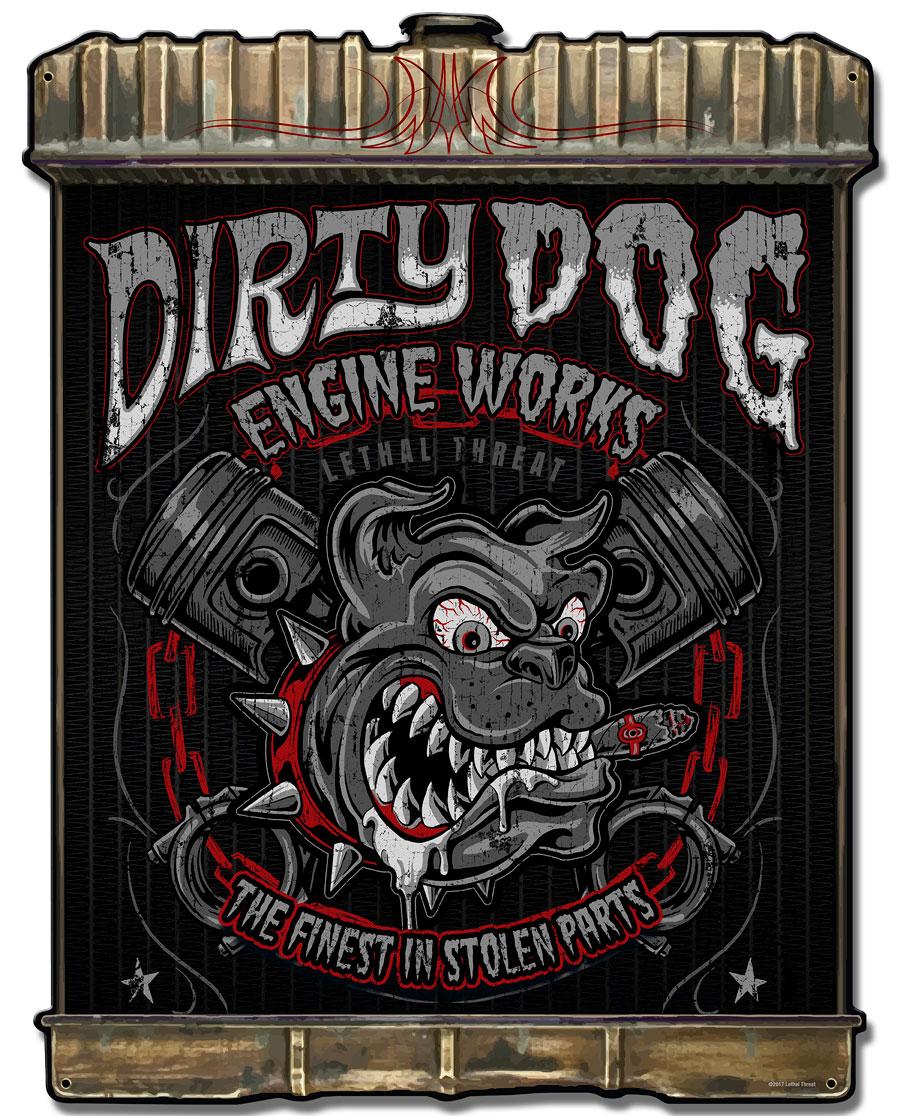 Radiator Dirty Dog Vintage Sign